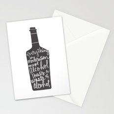 everything in moderation Stationery Cards