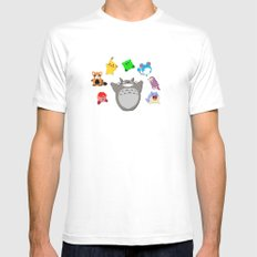 Video game Anime Character Rainbow White Mens Fitted Tee MEDIUM