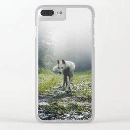 The Wolf (Color) Clear iPhone Case
