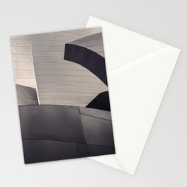 Architectural abstract, Black and White, LA Philharmonic, Architect: Frank Gehry Stationery Cards
