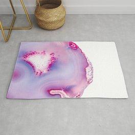 Agate - pink violet Rug