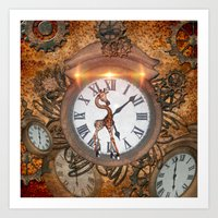 steampunk Art Prints featuring Steampunk by nicky2342