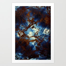 Sapphire & opal textures Art Print
