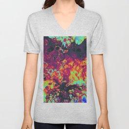 trippy colors psycheledic artwork Unisex V-Neck