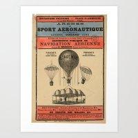 sport Art Prints featuring Sport Aeronaute by DAChiemsee
