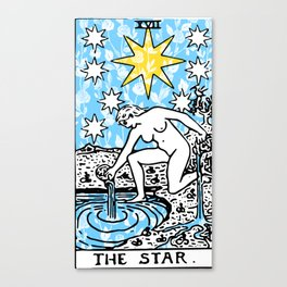 The Star - A Floral Print Canvas Print