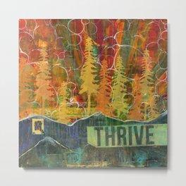 Thrive Mountain Collage Metal Print