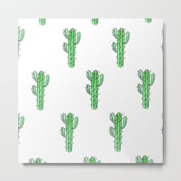 Saguaro Love II PATTERN Metal Print