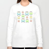 vans Long Sleeve T-shirts featuring Camper Vans by Laura Maria Designs