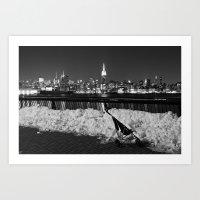 manhattan Art Prints featuring Manhattan by Diego Ituño