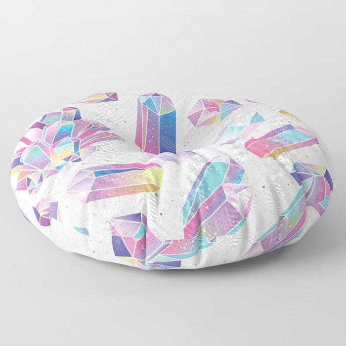 Purple Crystals Floor Pillow