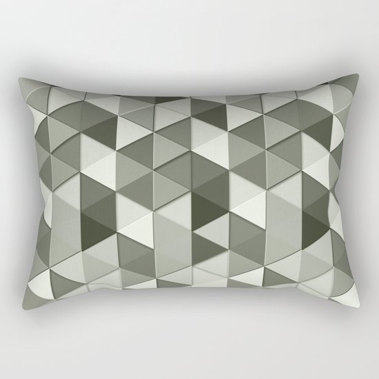 Cool Grayscale triangles geometric pattern Rectangular Pillow