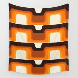 Mid-Century Modern Meets 1970s Orange Wall Tapestry