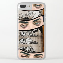 Down the ole hatch 2 Clear iPhone Case