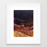 smaug Framed Art Prints featuring Smaug  by Chiara Martinelli Creations