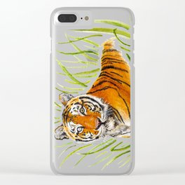 Zeus Tiger Bright Eyes Clear iPhone Case