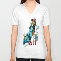 knit V-neck T-shirts featuring Knit Wit by Agy Wilson