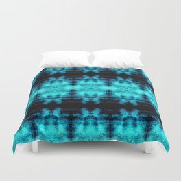Turquoise Blue Black Diamond Gothic Pattern Duvet Cover