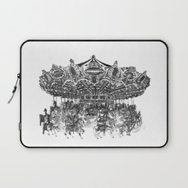 Carousel Drawing | Merry Go Round Art Print Laptop Sleeve