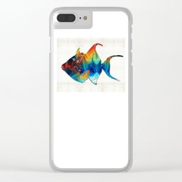 Trigger Happy Fish Art by Sharon Cummings Clear iPhone Case