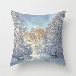 White Blanket Throw Pillow