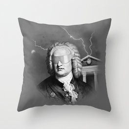 Bach To The Future Throw Pillow