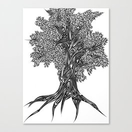 Gnarled Oak Tree Canvas Print