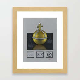Holy Hand Grenade of Antioch Framed Art Print