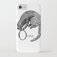 otter iPhone & iPod Cases featuring Otter by zuzia turek