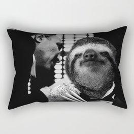 Sloth as Godfather Rectangular Pillow