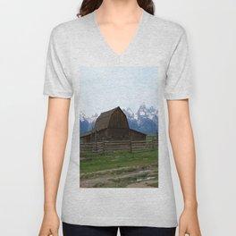 Mormon Row Iconic Barn Unisex V-Neck
