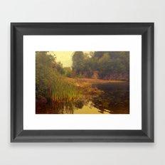 The mist of Avalon Framed Art Print