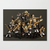 snk Canvas Prints featuring SNK by kanda3egle