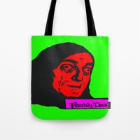 """gore Tote Bags featuring No, it's pronounced """"Eye-gore"""" 3 by Kramcox"""