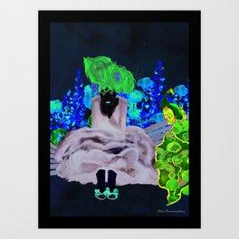 Lady Siri Art Print