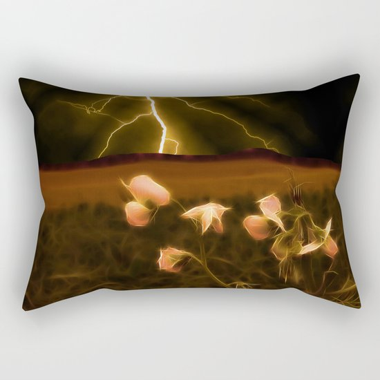 In darkest night one sees the flash but beauty soothes the karmic crash Rectangular Pillow