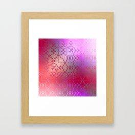 Summer of Retro (pretty pink) Framed Art Print