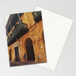 Swinging Yellow - Enchanting Cartagena de Indias - Magical Realism Stationery Cards