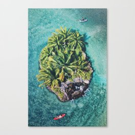 Waterfall Island Canvas Print