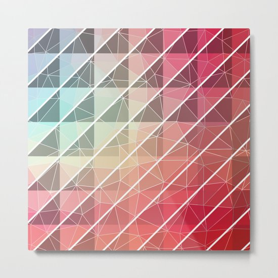 Abstract Geometric Design Metal Print