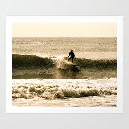 Sepia Surfer Art Print