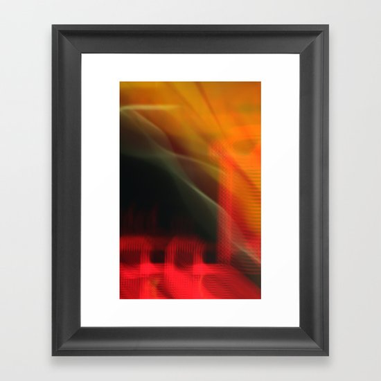 Abstract Colour Canvas (iPhone Cover) Framed Art Print