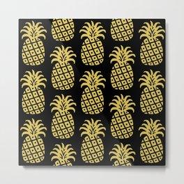 Retro Mid Century Modern Pineapple Pattern 540 Metal Print