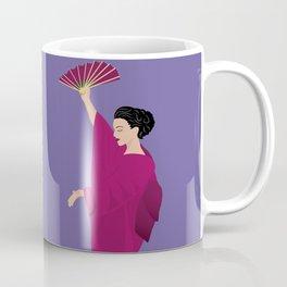 Beautiful woman in kimono Coffee Mug