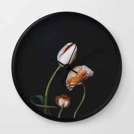 Family of Flowers Wall Clock