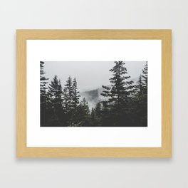 Misty Outdoors Framed Art Print