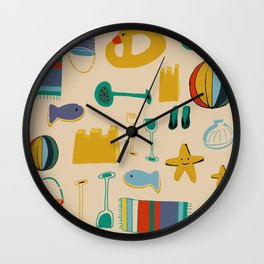 Beach gear Wall Clock