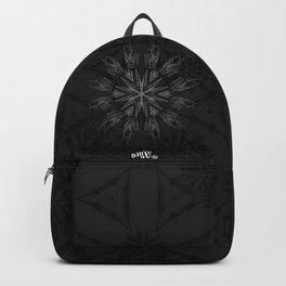 Circular star made of hands or bones. Vintage gothic pattern. Backpack