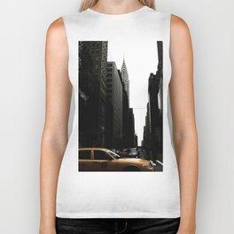 New York Street - Chrysler Building Biker Tank