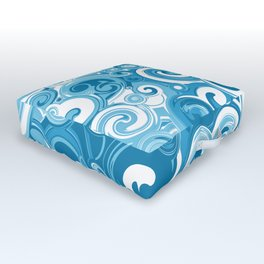 Ocean Whirlpool Vortex Outdoor Floor Cushion